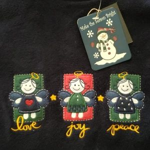 Sweaters - Holiday fleece pullover